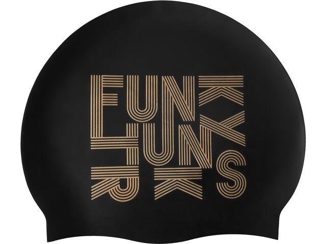 Funky Trunks Silicone Bonnet de bain, gold lines